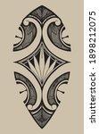 polenesian samoa tattoo desing... | Shutterstock .eps vector #1898212075
