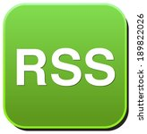 rss circle web glossy icon | Shutterstock . vector #189822026