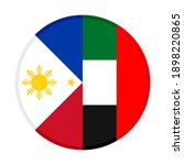 round icon with philippines and ... | Shutterstock .eps vector #1898220865