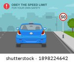 safety driving rules. obey the... | Shutterstock .eps vector #1898224642