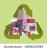 recycling green symbol for... | Shutterstock .eps vector #1898232985