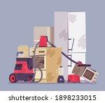 electrical appliances disposal  ... | Shutterstock .eps vector #1898233015