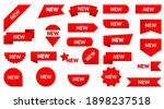 sticker tag new ribbon icon... | Shutterstock .eps vector #1898237518