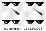 boss or gangster pixelated... | Shutterstock .eps vector #1898243038