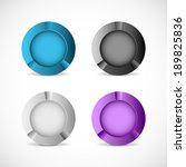set of four round buttons on... | Shutterstock .eps vector #189825836