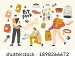 people buying food for pets....   Shutterstock .eps vector #1898266672