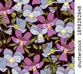floral seamless pattern with... | Shutterstock .eps vector #1898282848