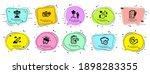 technology icons set. speech... | Shutterstock .eps vector #1898283355