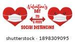 valentine's day social... | Shutterstock .eps vector #1898309095