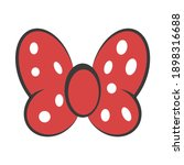 bow red butterfly  vector hair... | Shutterstock .eps vector #1898316688