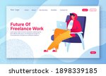 landing page template  home... | Shutterstock .eps vector #1898339185