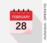 february 28  calendar icon with ... | Shutterstock .eps vector #1898356732