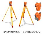 isometric surveying measuring... | Shutterstock .eps vector #1898370472