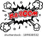 comic kaboom  speech bubble ... | Shutterstock .eps vector #189838532
