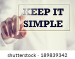Постер, плакат: Keep It Simple in