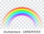 realistic spectrum rainbow on... | Shutterstock .eps vector #1898395555