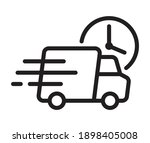 shipping fast delivery truck...   Shutterstock .eps vector #1898405008