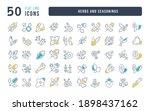 herbs and seasonings.... | Shutterstock .eps vector #1898437162