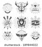 vintage hand drawn design... | Shutterstock .eps vector #189844022