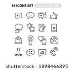 simple set of social networks...   Shutterstock .eps vector #1898466895