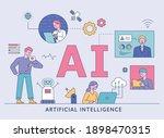 artificial intelligence...   Shutterstock .eps vector #1898470315