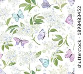seamless watercolor white... | Shutterstock .eps vector #1898483452