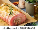 Pork Rolled Meat With Mushrooms ...