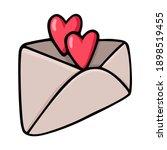 hand drawn black outline postal ... | Shutterstock .eps vector #1898519455