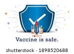 vaccine. vaccination concept.... | Shutterstock .eps vector #1898520688