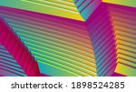 colorful curved stripes... | Shutterstock . vector #1898524285