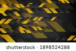 orange black tech geometric... | Shutterstock . vector #1898524288