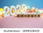 goodbye 2023 word alphabet... | Shutterstock . vector #1898528425