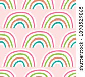 cute seamless pattern with... | Shutterstock .eps vector #1898529865