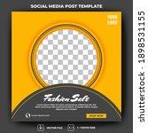 editable square banner template.... | Shutterstock .eps vector #1898531155