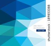vector geometric blue... | Shutterstock .eps vector #189853388
