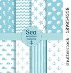 Set Of Sea And Nautical...