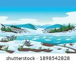spring landscape with river ...   Shutterstock .eps vector #1898542828