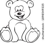 cute teddy bear cartoon...   Shutterstock .eps vector #1898549335