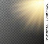vector glowing yellow bright...   Shutterstock .eps vector #1898549602