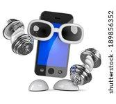 3d render of a smartphone... | Shutterstock . vector #189856352