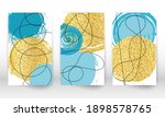abstract cover template. set of ... | Shutterstock .eps vector #1898578765