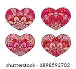 vector hearts set. decorative... | Shutterstock .eps vector #1898593702