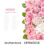 rose and peony flowers... | Shutterstock . vector #189860018