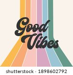 retro rainbow positive good... | Shutterstock . vector #1898602792