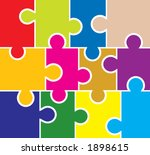 puzzle background  elements for ...   Shutterstock . vector #1898615