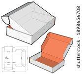 cardboard box for sending mail. ... | Shutterstock .eps vector #1898656708