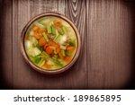 vegetable soup  | Shutterstock . vector #189865895