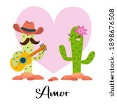 Loving Cactus With Guitar With...