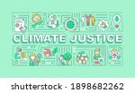 climate justice word concepts...