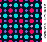 An Abstract Seamless Neon Dot...